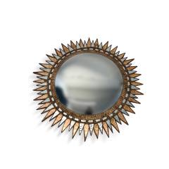 A Starburst form convex mirror in the manner of Line Vautrin - 1499575
