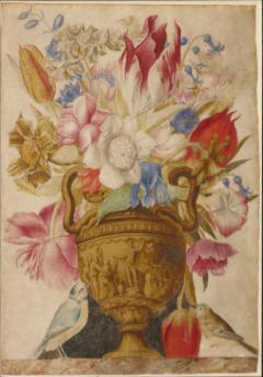 A Still Life with a Vase of Flowers - 1020524