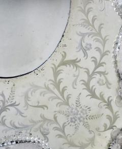 A Stunning and Shapely Venetian Rectangular Form Etched Mirror - 305464