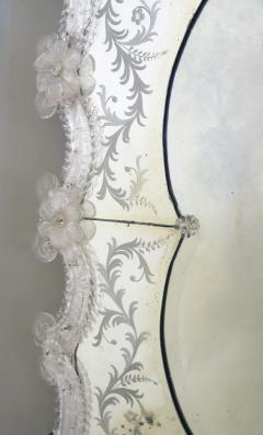 A Stunning and Shapely Venetian Rectangular Form Etched Mirror - 305467