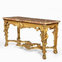 A Superb Pair Of Giltwood Console Tables With Original Marble Tops - 1226792