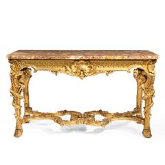 A Superb Pair Of Giltwood Console Tables With Original Marble Tops - 1226795