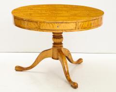 A Swedish Karl Johan Birch Root Drum Table Circa 1830s - 872394
