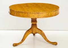 A Swedish Karl Johan Birch Root Drum Table Circa 1830s - 872395