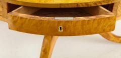 A Swedish Karl Johan Birch Root Drum Table Circa 1830s - 872398