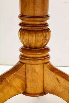 A Swedish Karl Johan Birch Root Drum Table Circa 1830s - 872402