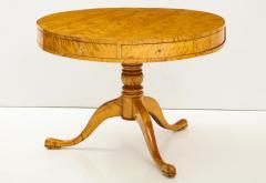 A Swedish Karl Johan Birch Root Drum Table Circa 1830s - 872404