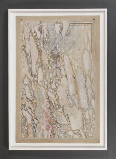 A Trompe Loeil Painting Simulating Breccia Di Settebasi - 1345098