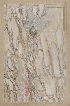 A Trompe Loeil Painting Simulating Breccia Di Settebasi - 1346212