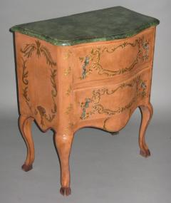 A Two Drawer Painted Chest with Faux Marble Top - 115558