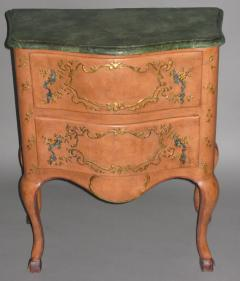 A Two Drawer Painted Chest with Faux Marble Top - 115559