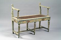 A Two Seated Painted Italian Neoclassical Bench - 315480