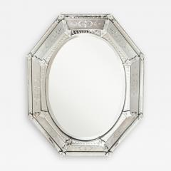 A Venetian Etched Glass Mirror - 189806