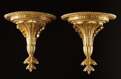 A Very Fine Pair of Georgian Giltwood Wall Brackets - 613147