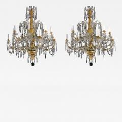 A Very Rare Pair of Chandeliers with 16 Lights - 270973