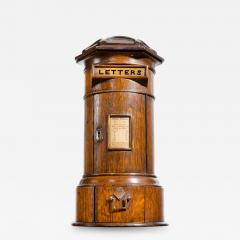 A Victorian oak country house letterbox by Rodrigues 1872 - 1509745