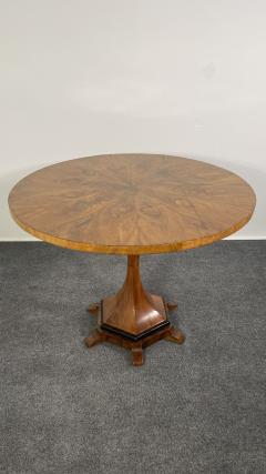 A Viennese Biedermeier Figured Fruitwood Walnut and Ebonized Center Table - 2099098