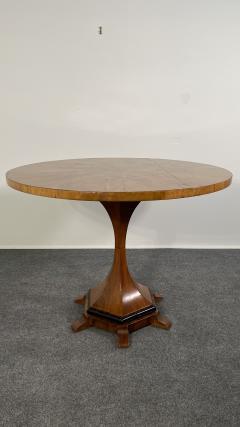 A Viennese Biedermeier Figured Fruitwood Walnut and Ebonized Center Table - 2099099