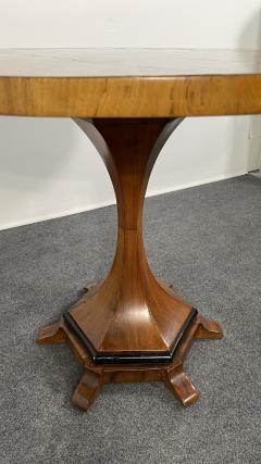 A Viennese Biedermeier Figured Fruitwood Walnut and Ebonized Center Table - 2099105