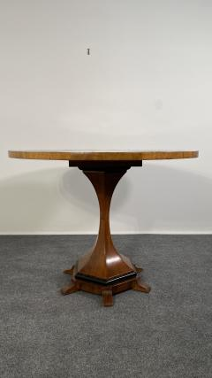 A Viennese Biedermeier Figured Fruitwood Walnut and Ebonized Center Table - 2099106