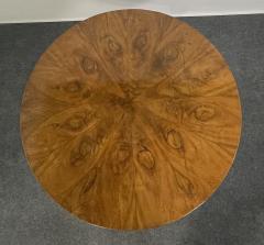 A Viennese Biedermeier Figured Fruitwood Walnut and Ebonized Center Table - 2099112