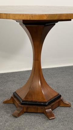 A Viennese Biedermeier Figured Fruitwood Walnut and Ebonized Center Table - 2099114