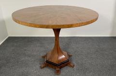 A Viennese Biedermeier Figured Fruitwood Walnut and Ebonized Center Table - 2099117