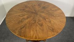 A Viennese Biedermeier Figured Fruitwood Walnut and Ebonized Center Table - 2099118