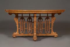 A WALNUT CENTER TABLE BY C MELLIER CO WITH ILLUSIONISTIC PARQUETRY TOP - 968116
