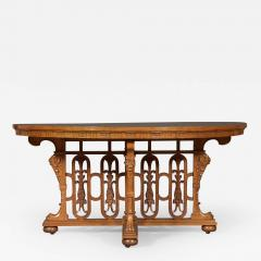 A WALNUT CENTER TABLE BY C MELLIER CO WITH ILLUSIONISTIC PARQUETRY TOP - 968770