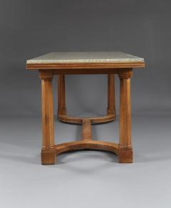A Walnut Center Or Dining Table With Marble Top In The Manner Of Lutyens - 1014228