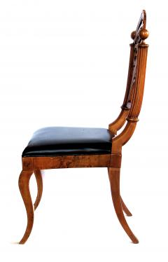 A Well Carved Set of 4 Gothic Revival Walnut Side Chairs - 327341