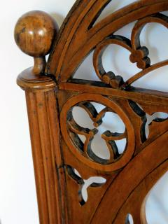 A Well Carved Set of 4 Gothic Revival Walnut Side Chairs - 327344