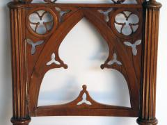 A Well Carved Set of 4 Gothic Revival Walnut Side Chairs - 327346