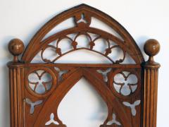 A Well Carved Set of 4 Gothic Revival Walnut Side Chairs - 327347