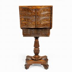 A William IV mahogany teapoy - 2134481