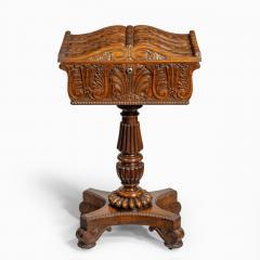 A William IV mahogany teapoy - 2134482