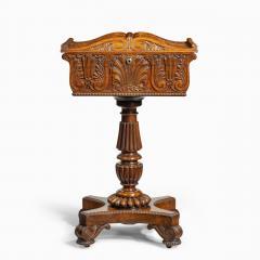 A William IV mahogany teapoy - 2134483