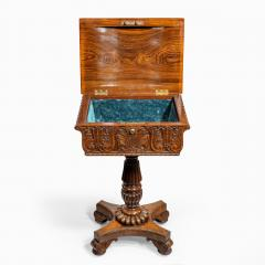 A William IV mahogany teapoy - 2134484