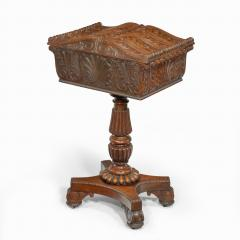 A William IV mahogany teapoy - 2134485