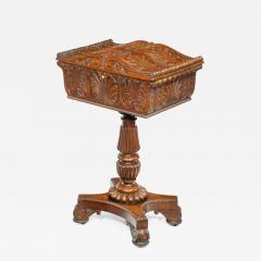 A William IV mahogany teapoy - 2134742