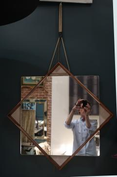 A Wood and glass italian mirror 1960 - 1072825