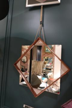 A Wood and glass italian mirror 1960 - 1072828
