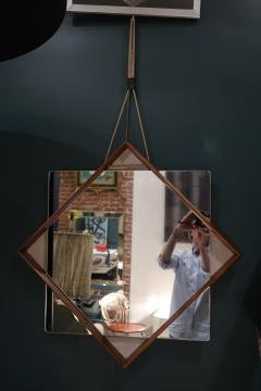 A Wood and glass italian mirror 1960 - 1072830
