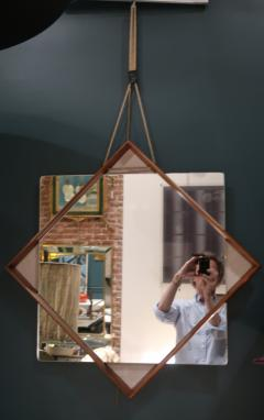 A Wood and glass italian mirror 1960 - 1072831