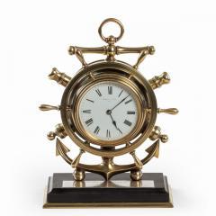 A brass ship s novelty clock presented to Captain Tynte F Hammill RN - 1838160