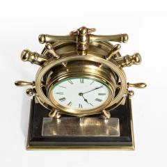 A brass ship s novelty clock presented to Captain Tynte F Hammill RN - 1838162