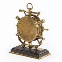 A brass ship s novelty clock presented to Captain Tynte F Hammill RN - 1838164