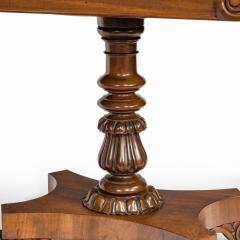 A companion pair of William IV flame mahogany card tables - 1849224