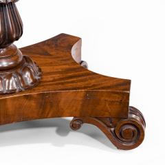 A companion pair of William IV flame mahogany card tables - 1849225
